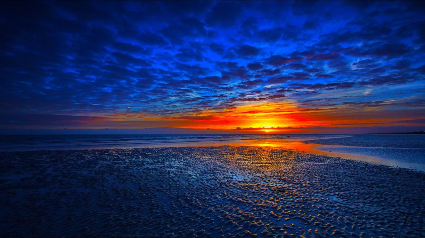 blue sunset | 1080p blue sunset background wallpaper hd 1366x768 for
