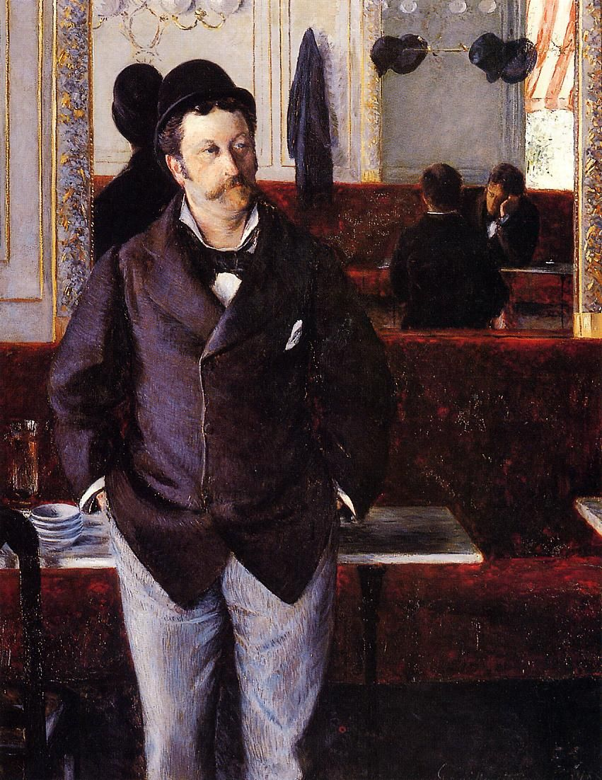 In a Cafe by Gustave Caillebotte - 1880