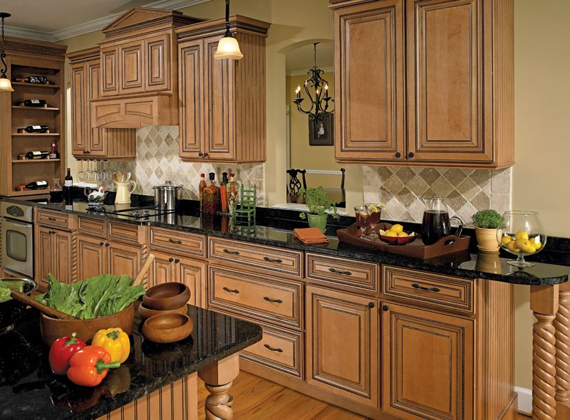 Coventry Maple Traditional Kitchen Cabinets In Honey Shadow