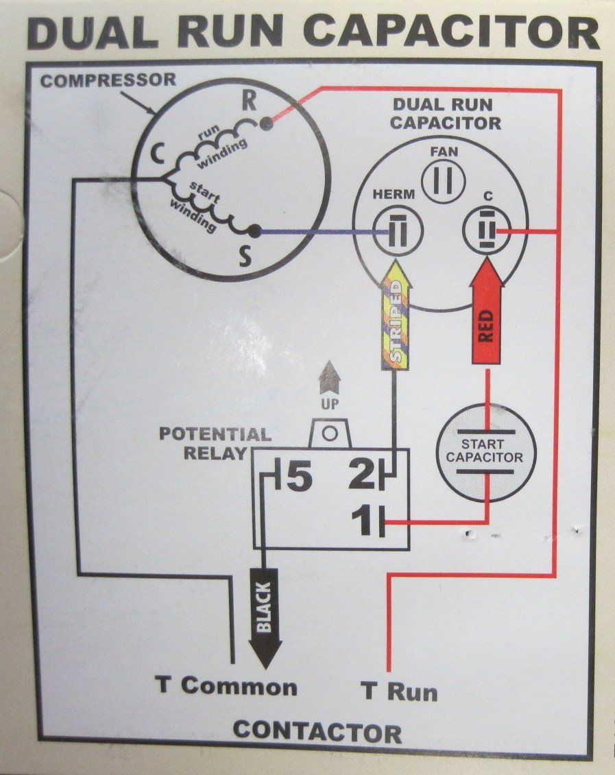 Hard Start Wiring Diagram Wiring Diagrams All | Refrigeration and air  conditioning, Electrical circuit diagram, Capacitors | Hvac Potential Relay Wiring Diagram |  | Pinterest