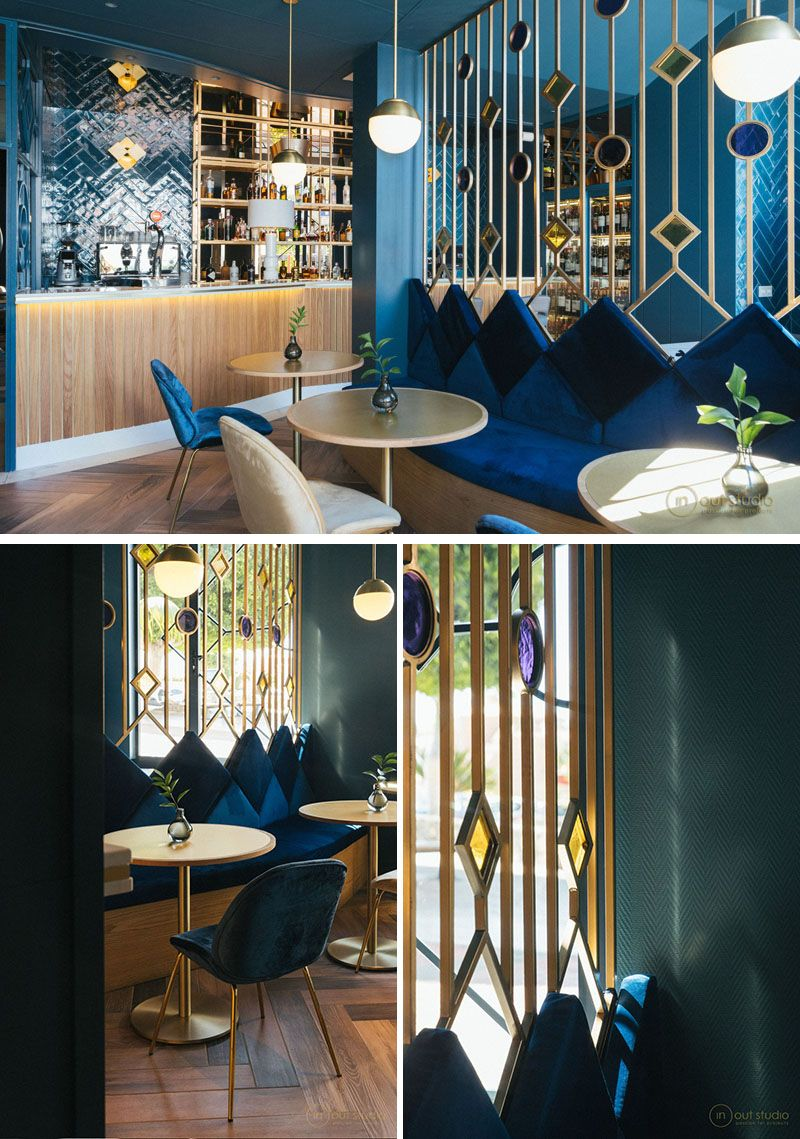 This Room Divider In A Modern Restaurant Has Been Named Jewel Screens As They Are D Decorative Room Dividers Cafe Interior Design Restaurant Interior Design