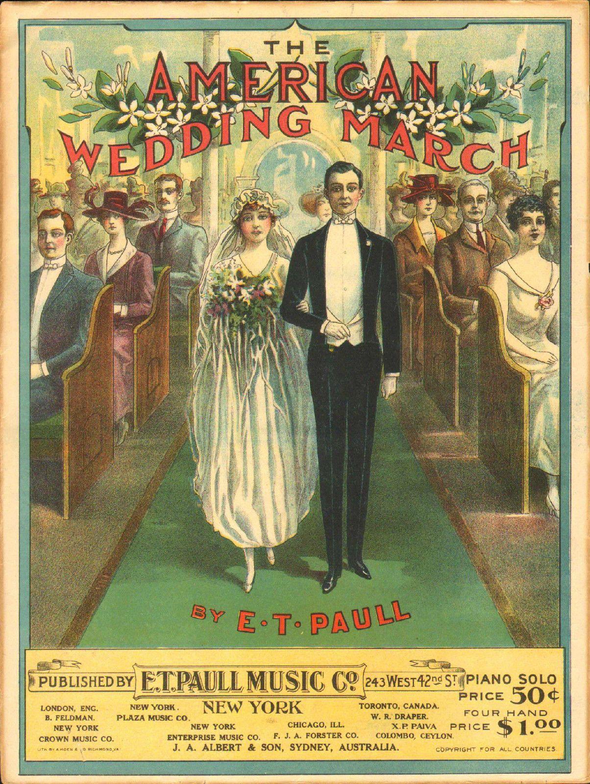 Kittyinva the american wedding march blushing bride