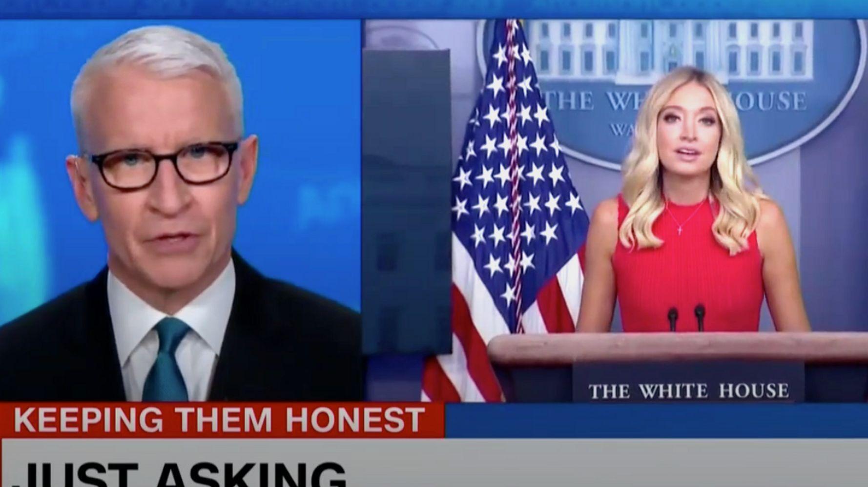 Anderson Cooper Blasts Lie Teller Kayleigh Mcenany For Orwellian Trump Defense Huffpost In 2020 Kayleigh Mcenany Anderson Cooper Trump Press Secretary