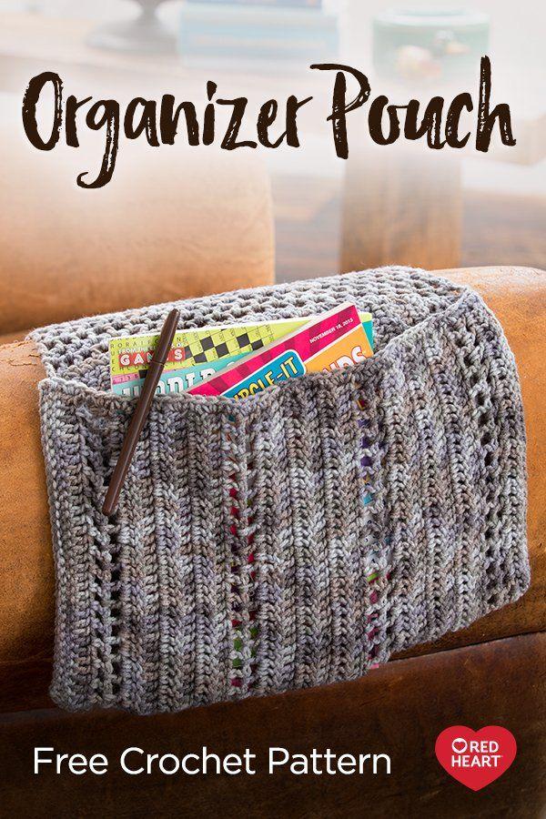 Organizer Pouch free crochet pattern in Super Saver yarn ...