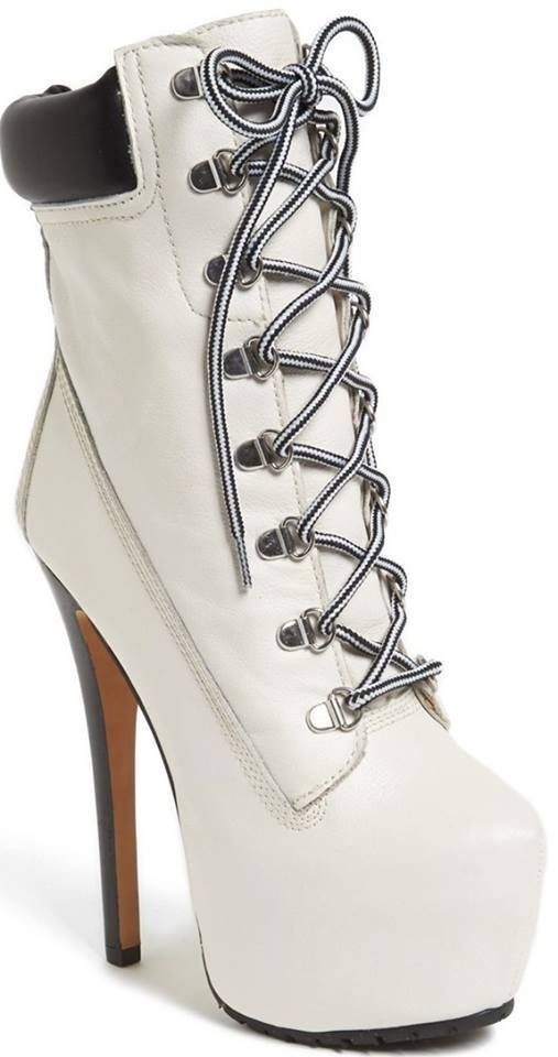 White Timberland-Style boot  shoes  84f722037617