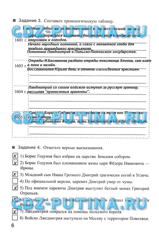 Спиши тетрадь по истории россии 7 класс
