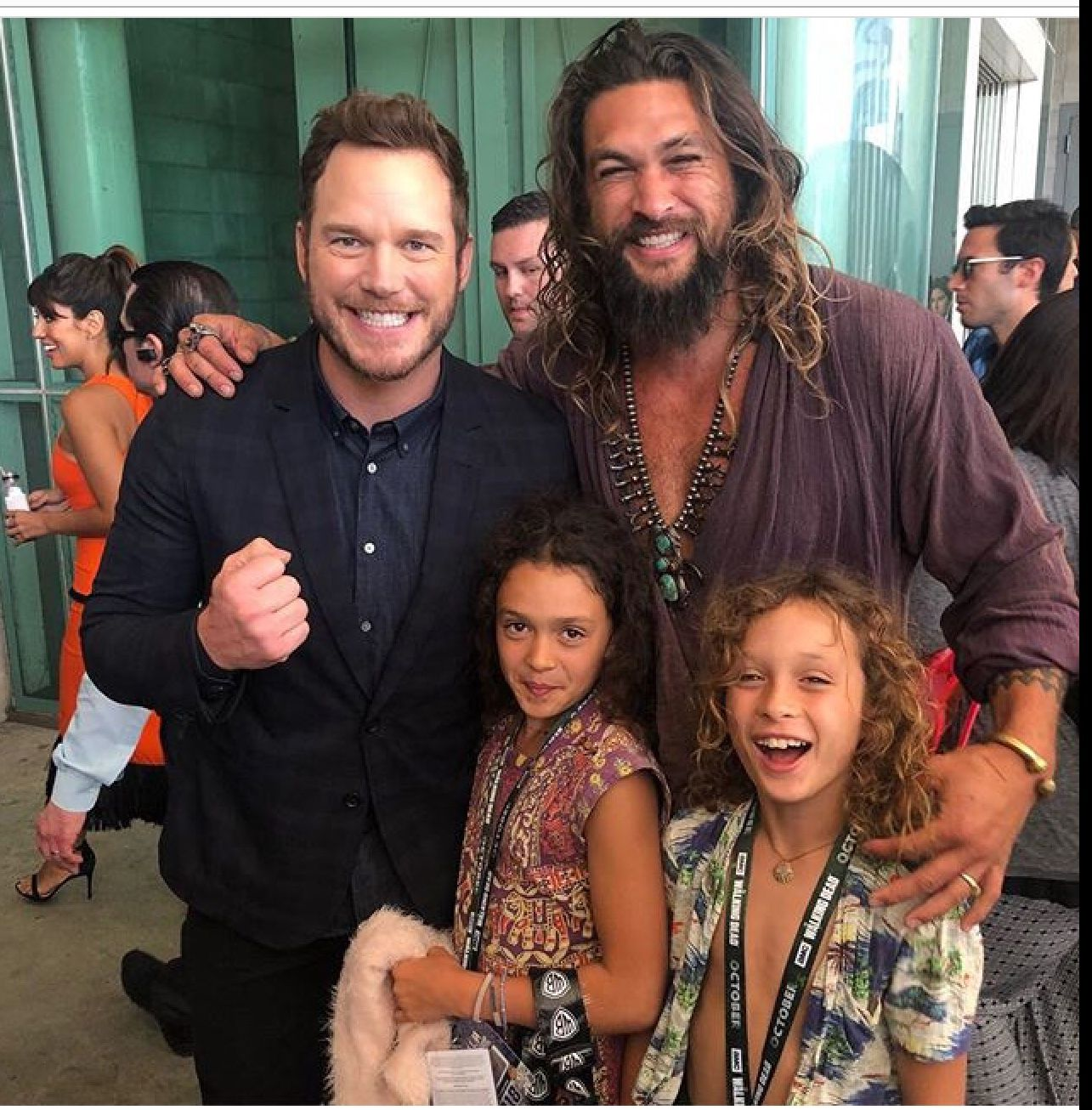 Momoa Family With Chris Pratt Jason Momoa Aquaman Chris Pratt Jason Momoa