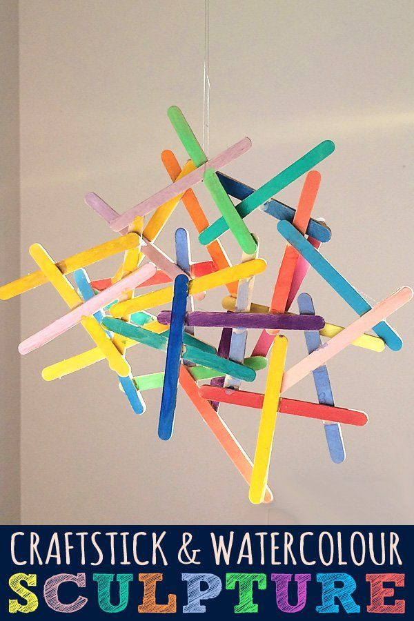 20 Popsicle Stick Crafts For Kids   Craft sticks, Watercolor and ...