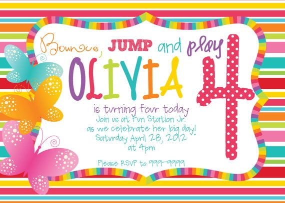 printable rainbow butterfly birthday perfect for those summertime, Birthday invitations