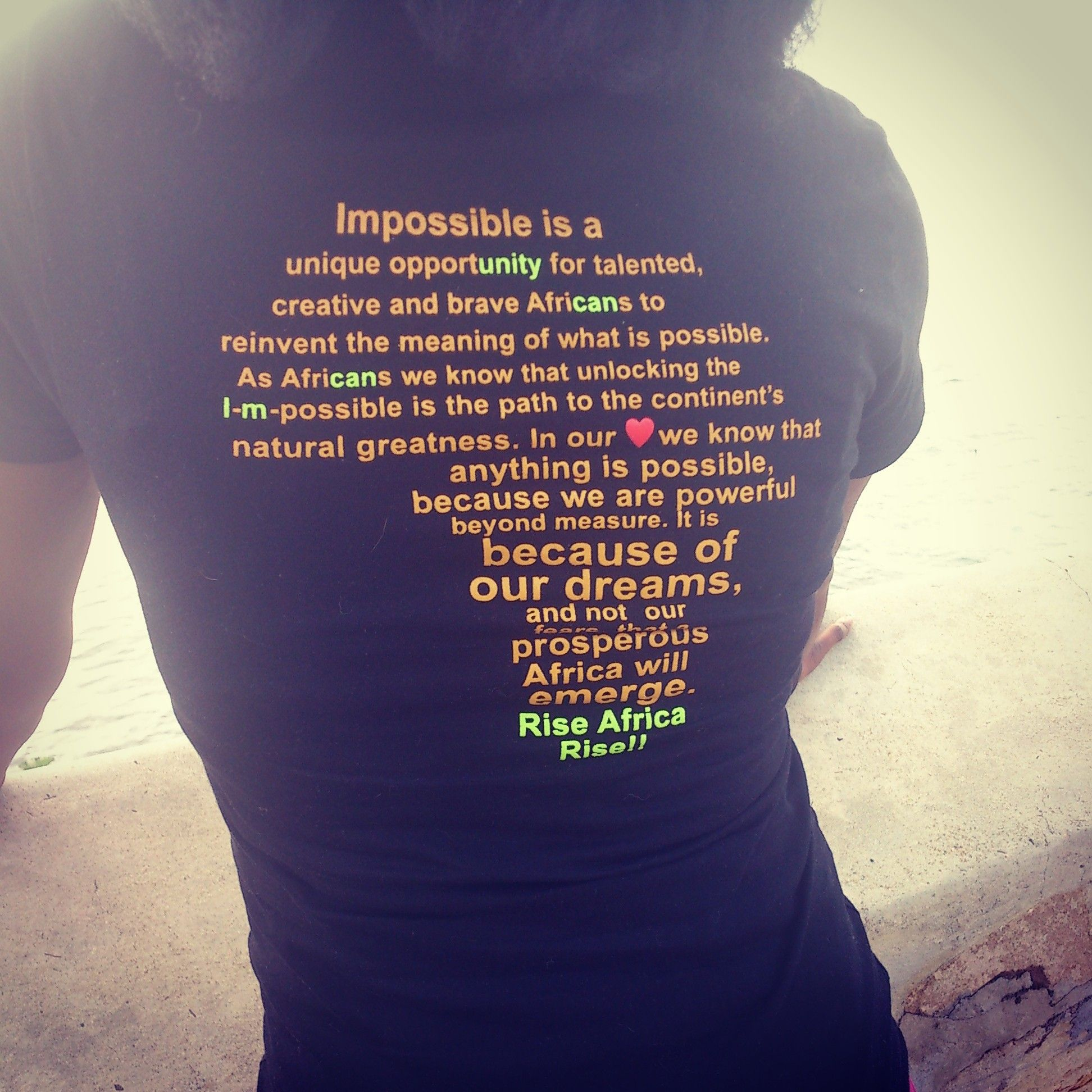 Africa Map Horn Of Africa%0A Inspirational quote on back of Rise Africa Rise Tshirts