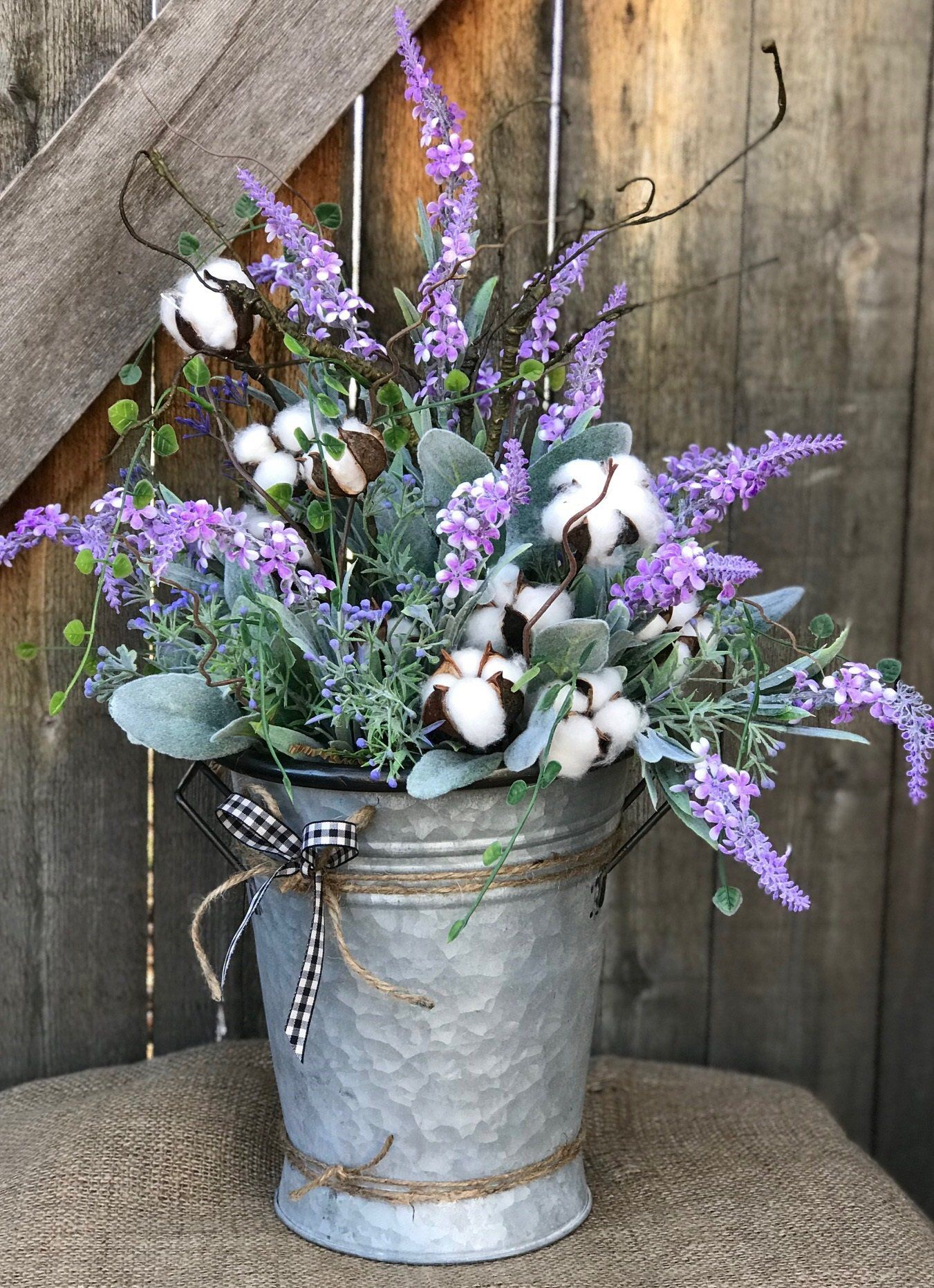 Cotton And Lavender Floral Arrangement So Pretty And Soft You Can Almost Smell It With Images Flower Arrangements Floral Arrangements Flowers