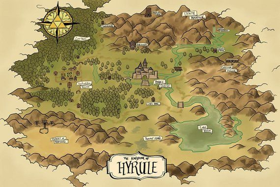 Map Of Hyrule Map of Hyrule (The Era of Light and Dark) in 2019 | Products | How