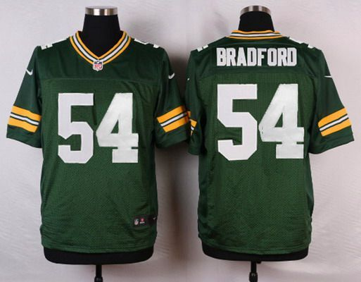 58777352b Men s Green Bay Packers  54 Carl Bradford Green Team Color NFL Nike Elite  Jersey