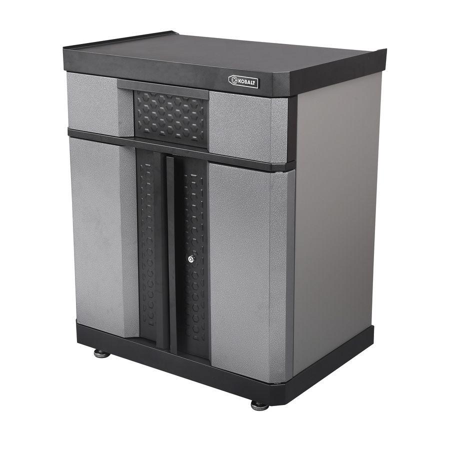 d w mount kobalt x garage wall steel in cabinets cabinet h shop pd