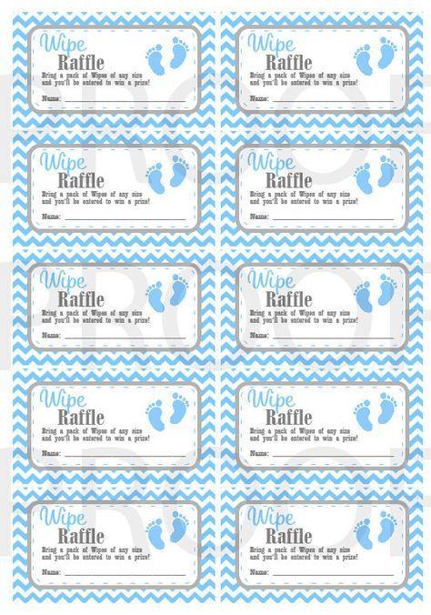 Wipe Raffle Tickets Printable Baby Shower Raffle Tickets Grey Blue Baby Feet Baby Shower Instant Download Printable Tickets Baby Shower Raffle Baby Shower Planning List Baby Shower Printables