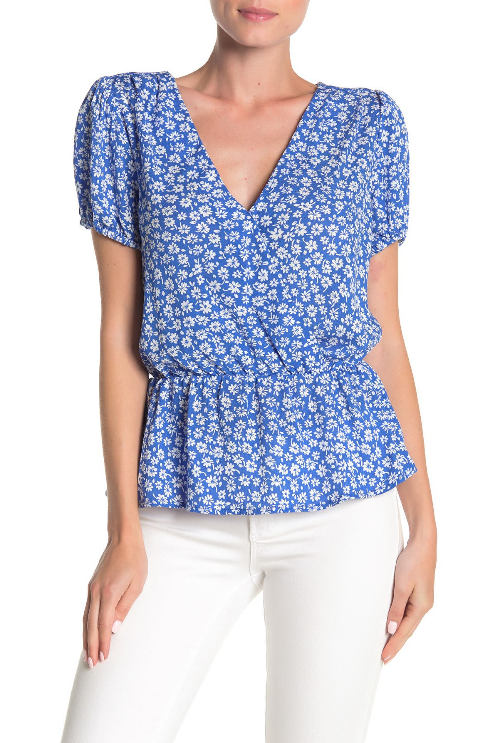 GOOD LUCK GEM | Floral Cinch Waist Blouse #nordstromrack