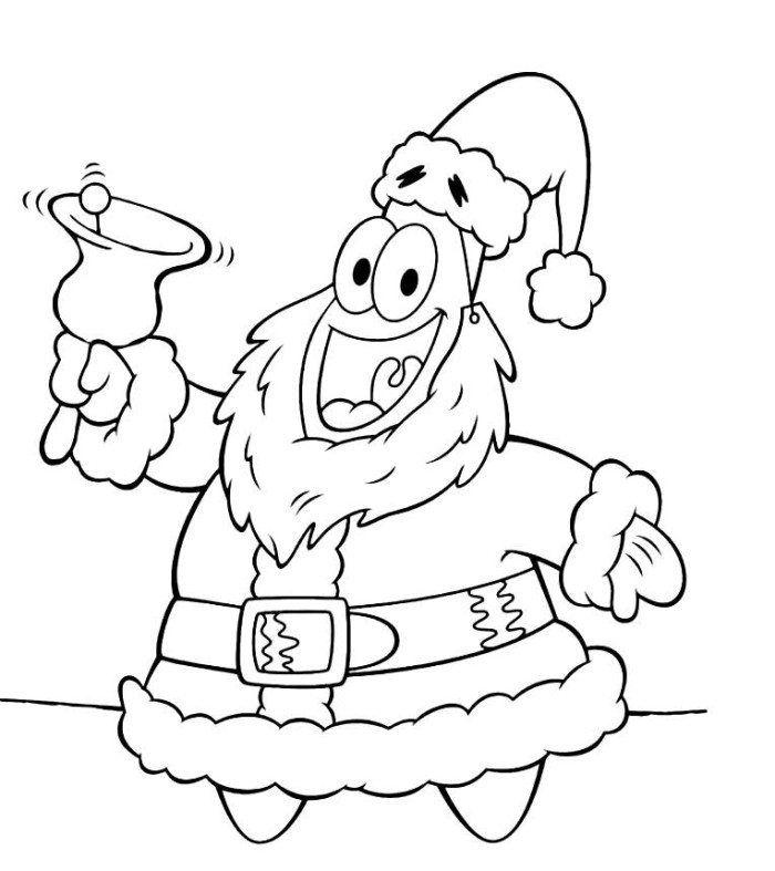 christmas coloring patrick santa coloring pages of
