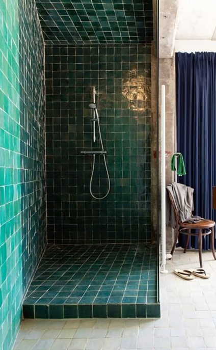 Shower With Zellige Tile From Cl 233 Interiors Small