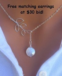 Stunning White Pearl Necklace. Starting at $5 on Tophatter.com!