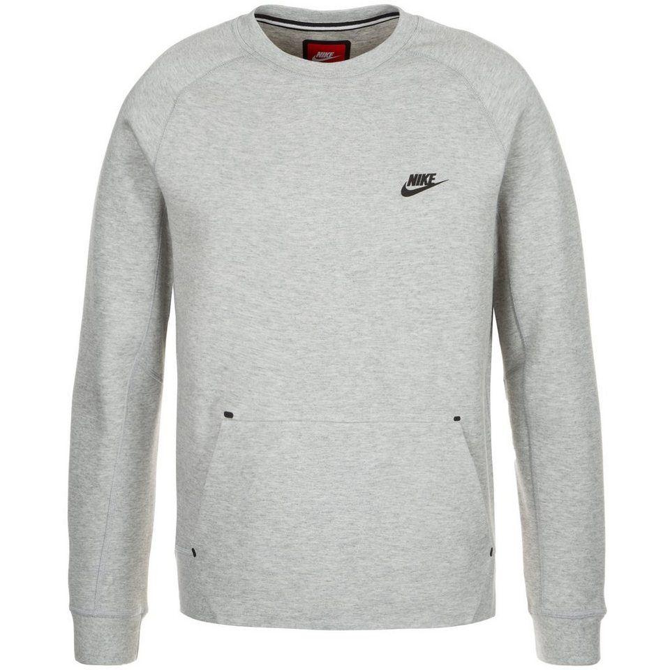 Nike Sweatshirt NSW Tech Fleece Crew GrauSchwarz | www