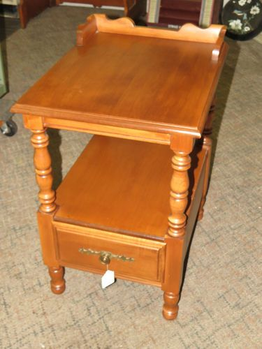 Mid Century Modern Tell City End Table Night Stand Hard Rock Maple Andover 8814 Ebay