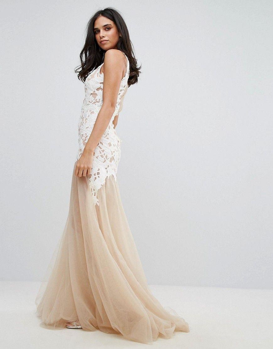 Fashion week Bottom sheer wedding dress for lady