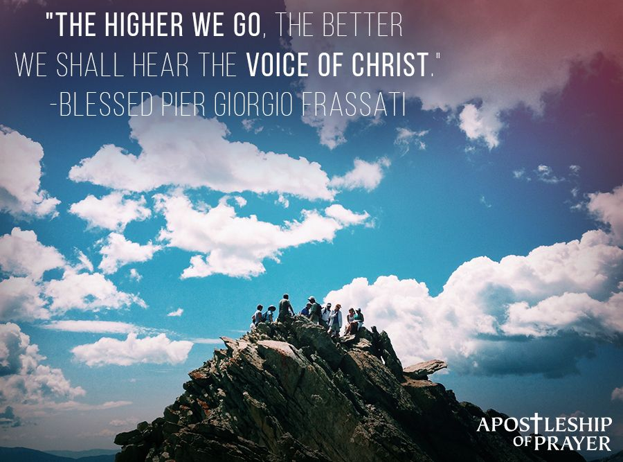 As we draw closer to God, His voice becomes clearer and easier to hear. Let us go to the heights!