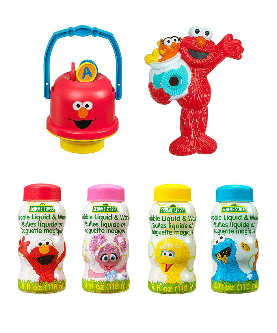 love this sesame street elmo bubble toy set by little kids on