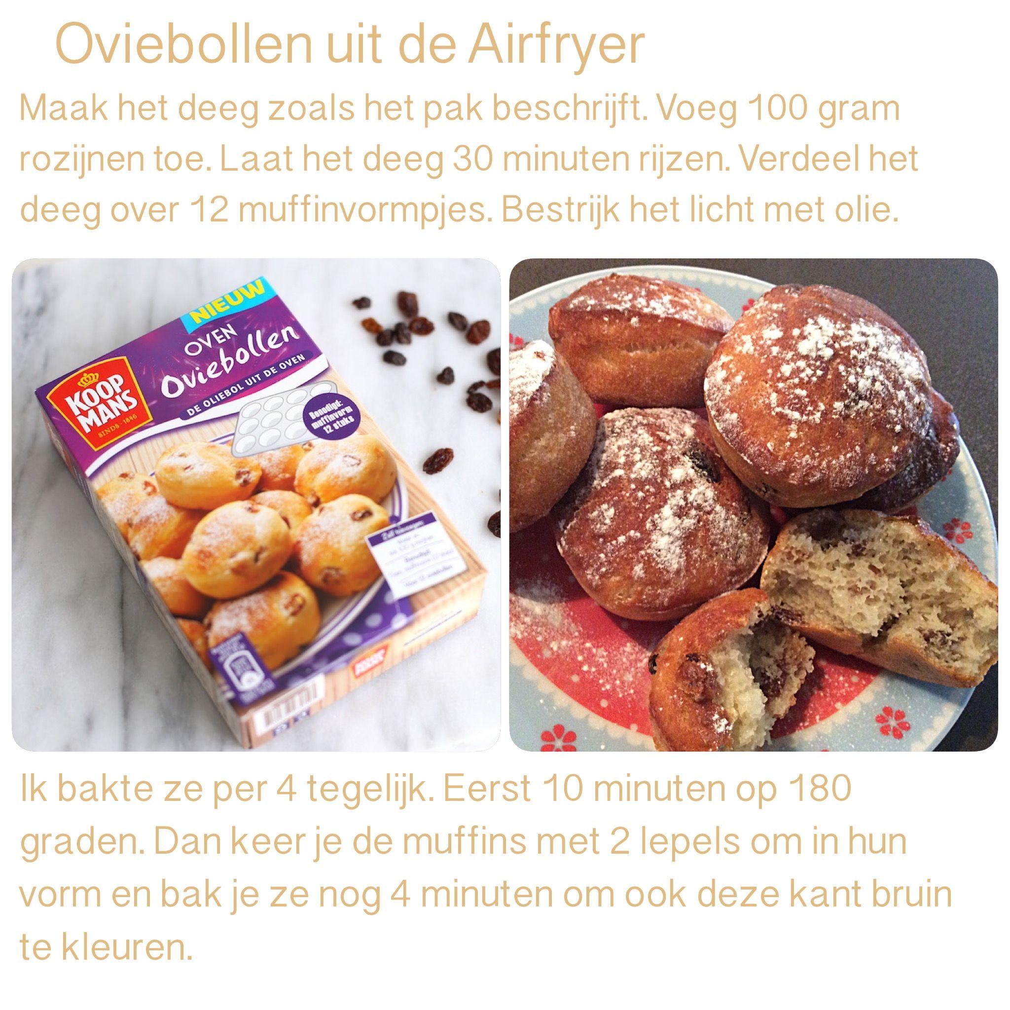 Oviebollen Uit De Airfryer 14 Minuten 180 Graden Ak Koken