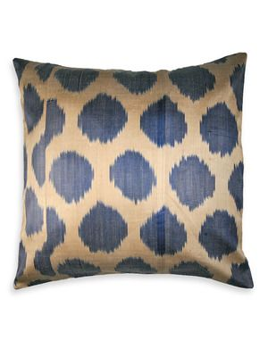 nuLOOM: Preppy Chic - Gilt Home  Genuine Silk Ikat Polka Dot Sapphire Pillow. I love Sapphire!
