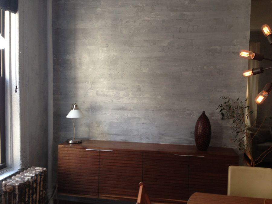 DIY Home Decor How To Paint a Faux Concrete Wall Finish - paredes de cemento