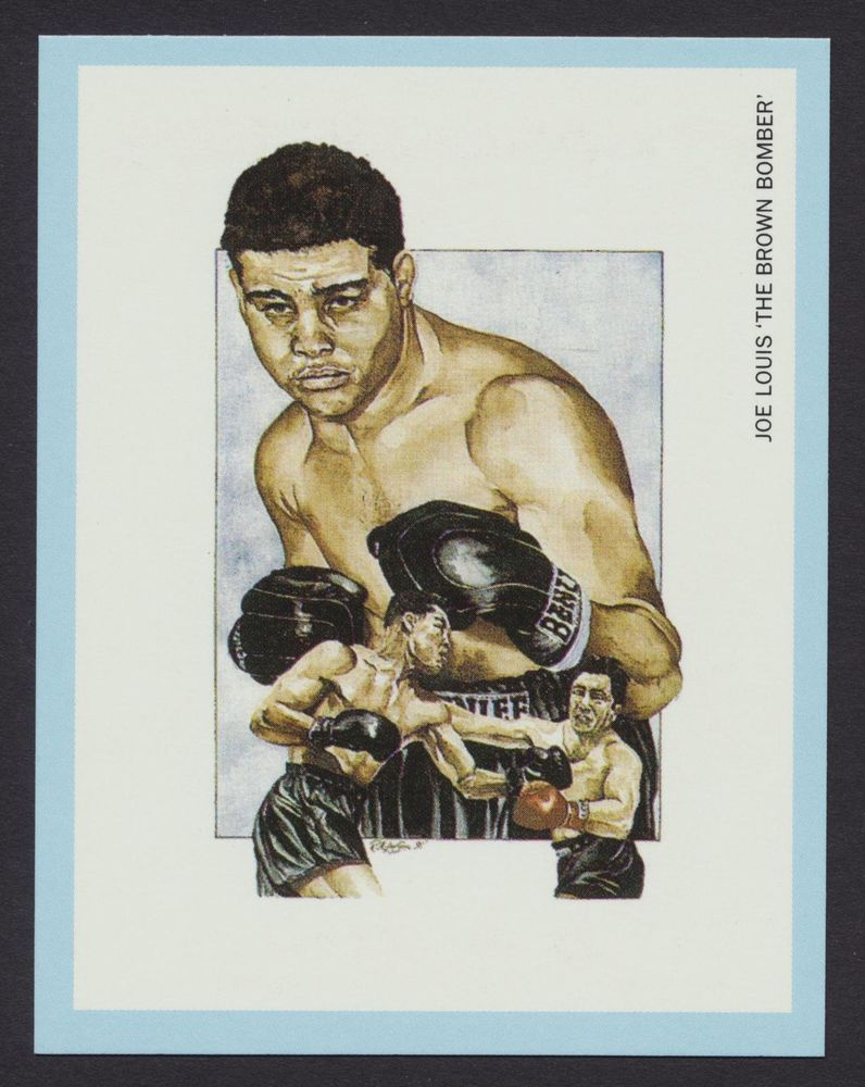 "/""The Brown Bomber/"" 1991 Boxing Card JOE LOUIS"