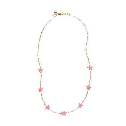 Girls' bright stars necklace