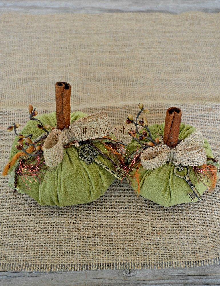 Velvet PumpkinsRustic Fall by timewashed on Etsy