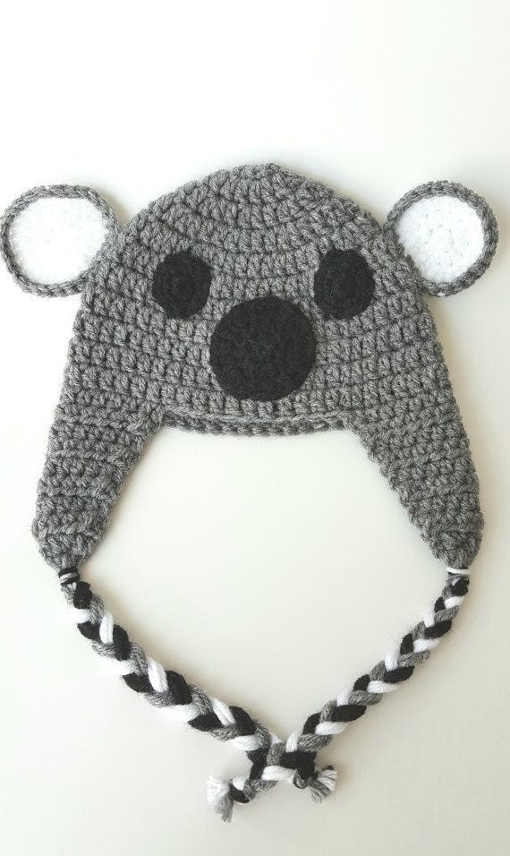Koala Hat Baby 6-12m. Ready to Ship! Great winter hat and ...