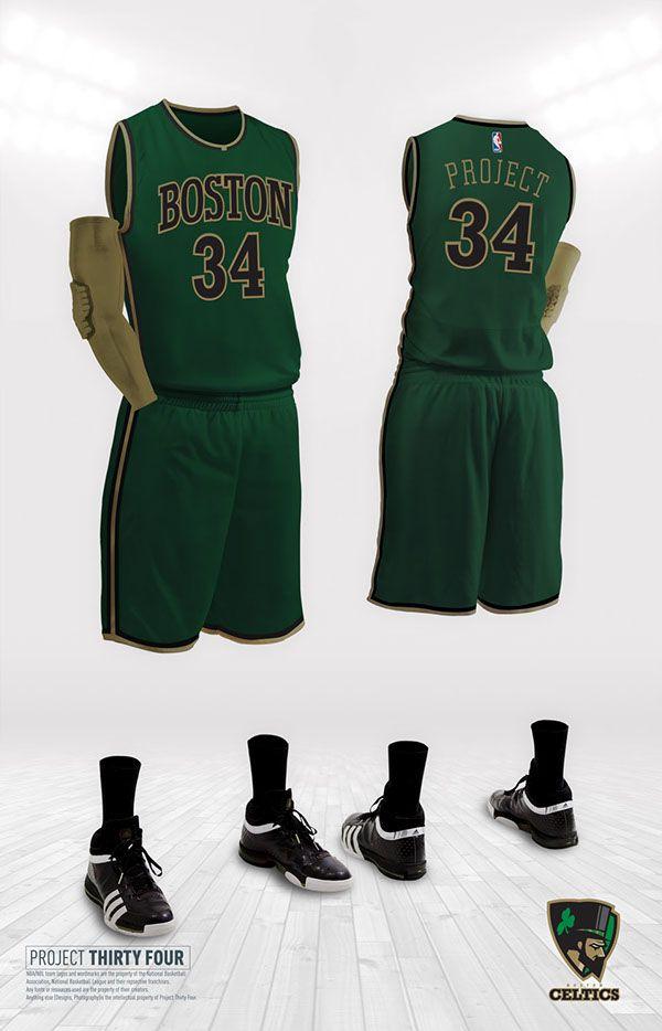 a381e109 Boston Celtics Rebrand on Behance | nba | Nets jersey, Brooklyn nets ...