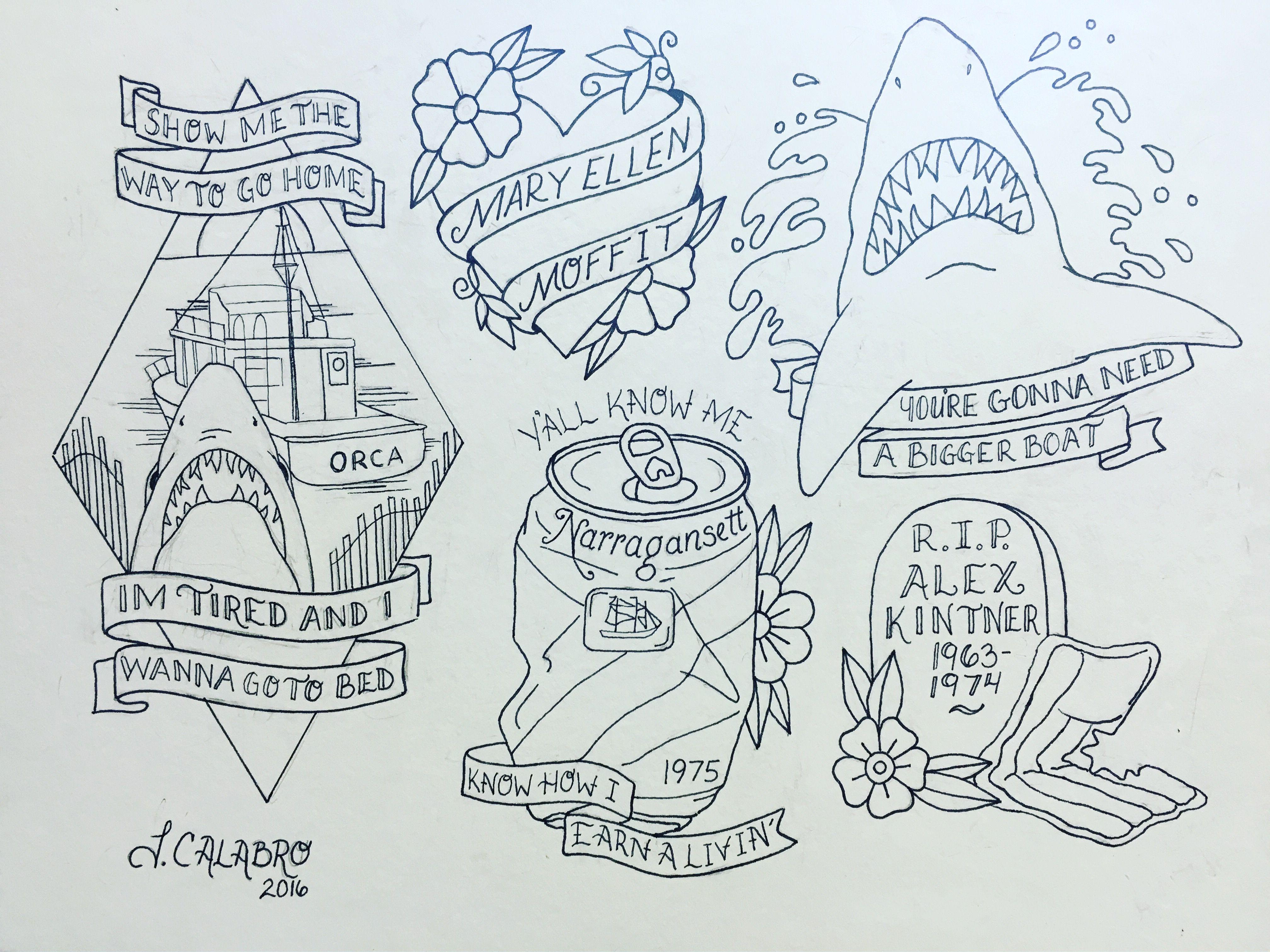 Instagram Jaw Tattoos: Shark Tattoos, Inspirational