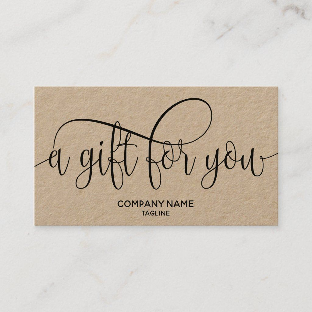 Kraft Simple Modern Business Gift Certificate Zazzle Com Business Gifts Gift Certificates Gifts