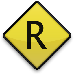 Capital Letter R Icon #075608