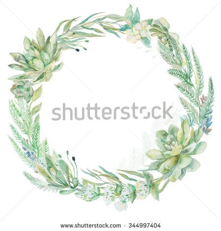 succulent and flower wedding invitations - Google Search