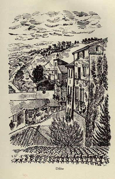 Urbino, Hill Towns of Italy. Illustrated by David Gentleman