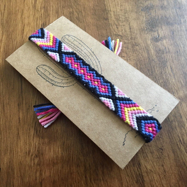 Boho woven tribal bracelet friendship bracelets diy