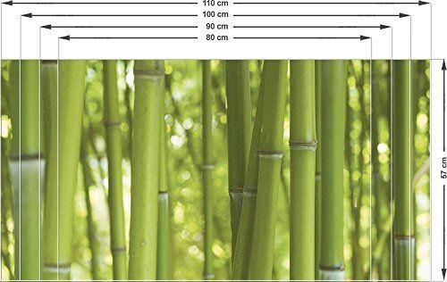 Graz Design 991000_110x57 Sichtschutz Fensterfolie Sichtschutzfolie Für Badezimmer  Bambus Bambusstamm (Größeu003d110x57cm)
