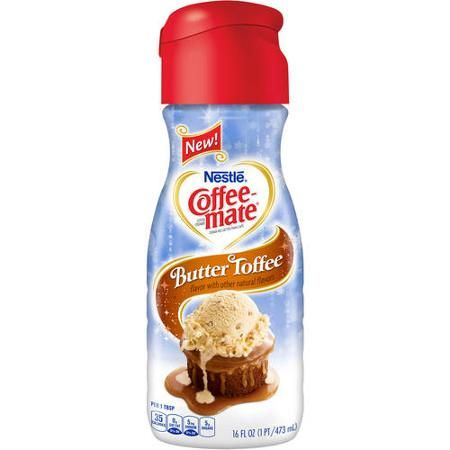 Coffee Mate Butter Toffee Liquid Coffee Creamer 16 Fl Oz With