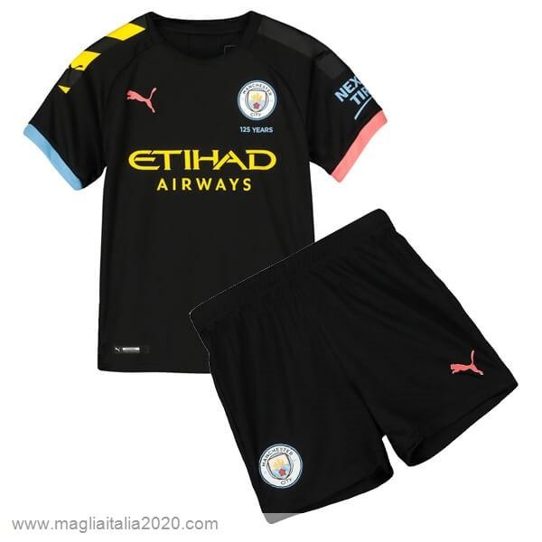 Away Set Completo Bambino Manchester City 2019 2020 Nero Calcio Shop