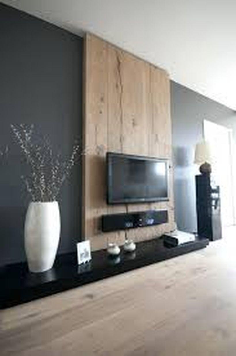 46 Rustic Tv Wall Design Ideas For Home Bedroom Tv Wall Li