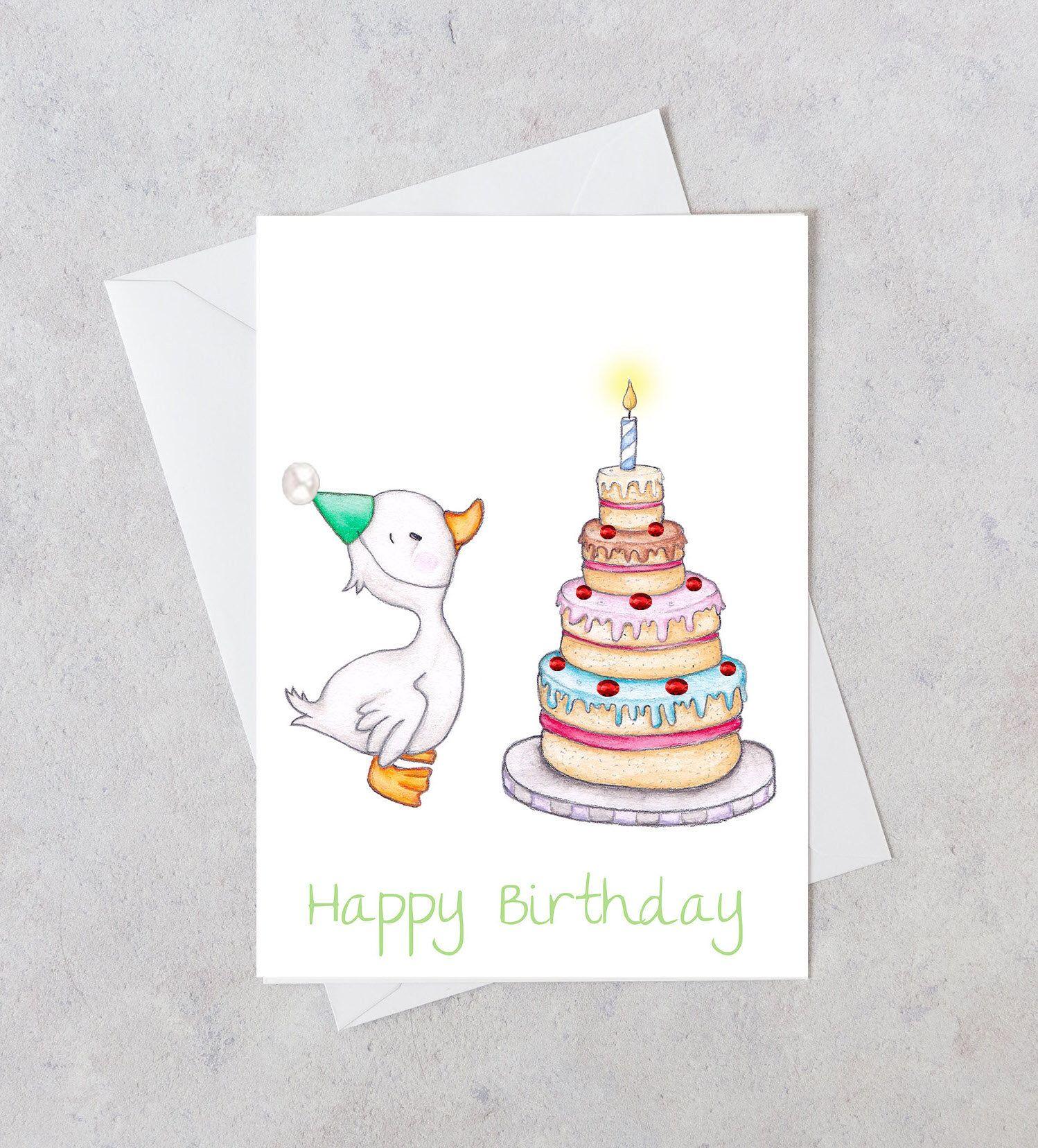 Kids Birthday Card - Children's greeting card - Happy ...