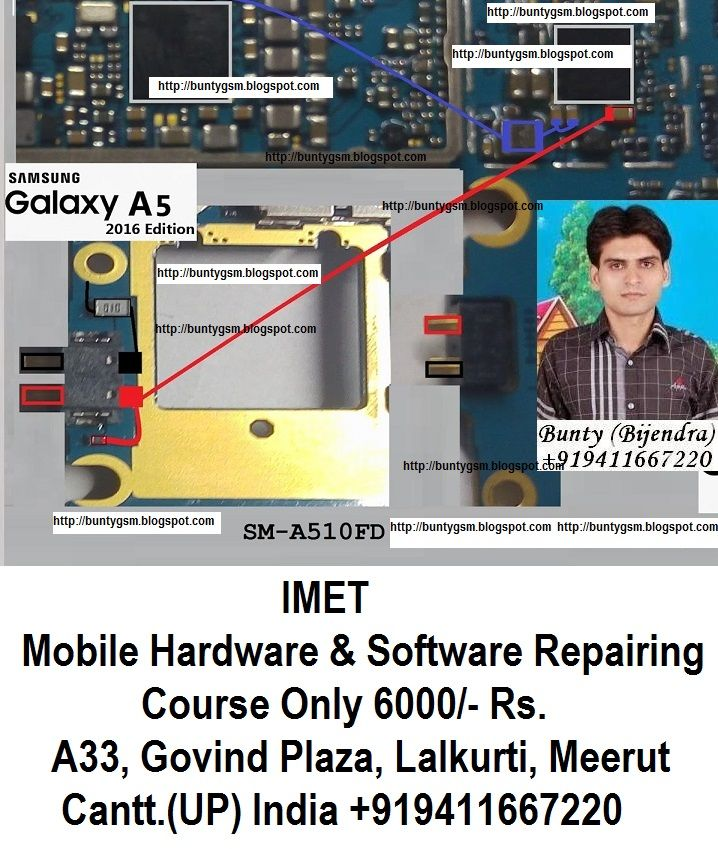 Samsung A510F Battery Connector Problem Solution Jumper Ways
