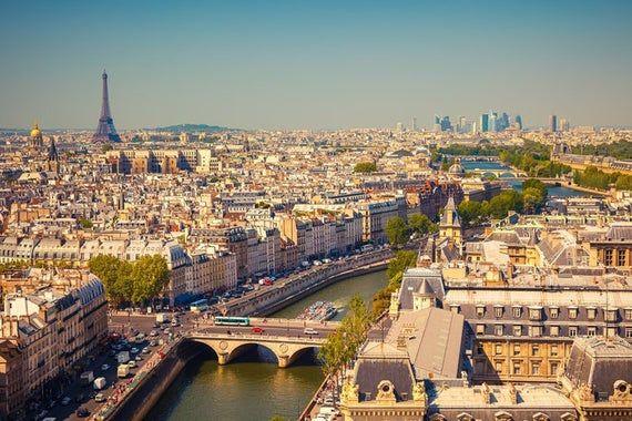 View of Paris, France Photography A-91343 (Art Prints, Wood & Metal Signs, Canvas, Tote Bag, Towel)