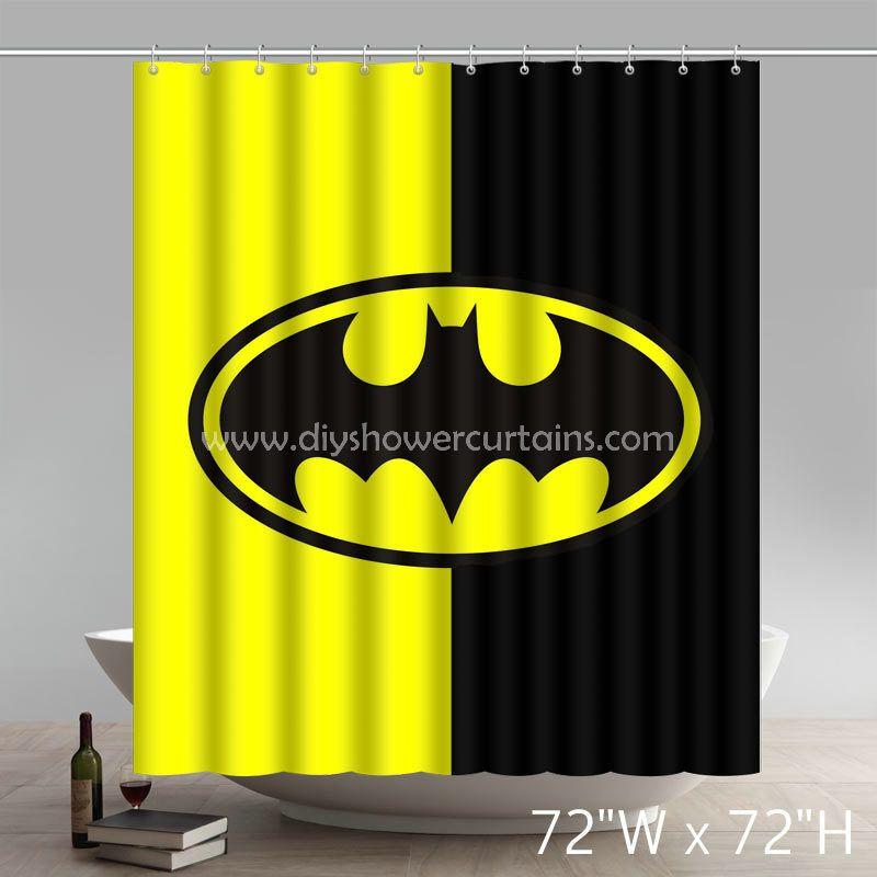Symbol Batman Arkham Knight Bathing Shower Curtains